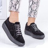 Pantofi sport dama piele naturala negri Libaria-rl