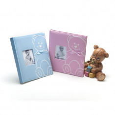 Album New Baby Bear, personalizabil, 240 foto autoadezive, textil, 29x32 cm