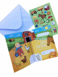 Felicitare cu poveste - Happy Birthday - Age 3 - Farm | Cardoo