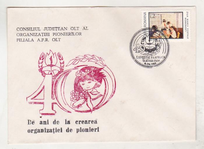 bnk fil Plic ocazional 40 ani de la crearea organizatiei pionieri - Slatina 1989