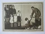 Rara! Carte postala necirculată Hitler și copiii,cu ștampila rară Berlin 1939