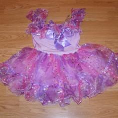 costum carnaval serbare rochie dans zana floare pentru copii de 4-5 ani