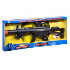Arma de jucarie Police Weapon, 72 cm, sunete si lumini