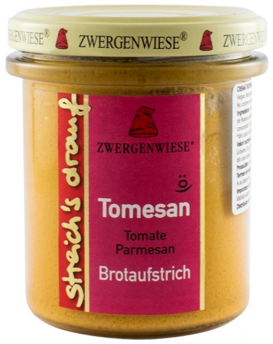 Crema tartinabila BIO vegetala Tomesan, 160 g ZWERGENWIESE