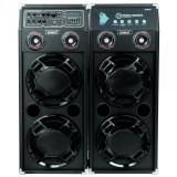 Sistem audio Samus Twin Sound 20, 2 boxe active, 300 W, Bluetooth, USB, SD card slot, Aux in, radio FM, intrare microfon, intrare chitara, egalizator,