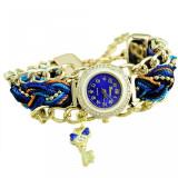 Cumpara ieftin Ceas dama, fashion Key & Crystals - albastru