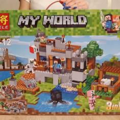 NOU/SIGILAT - Set de 517 piese tip lego Minecraft My World LELE 33191