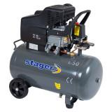 Cumpara ieftin Compresor cu piston Stager HM2050B, 50 L, 8 bar, 200 l min, 2 CP, monofazat