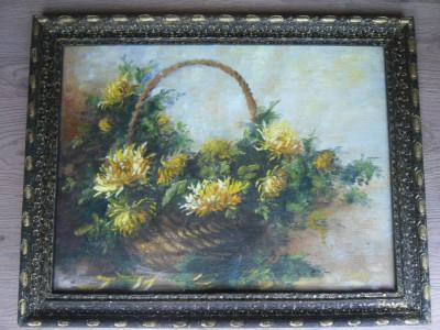 tablou cos cu flori foto