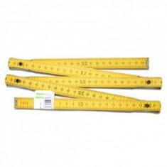 Metru pliabil din lemn, lungime 2m, Strend Pro FS18