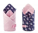 Paturica nou-nascut Minky Wrap roz 80x80 cm Sensillo