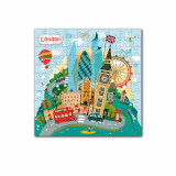 Puzzle - Londra (120 piese) PlayLearn Toys, Dodo