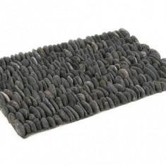 Covor din pietre naturale negre 61 x 41 cm