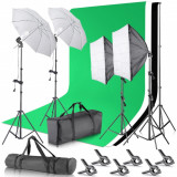 Kit Studio Foto Lumini Profesionale softbox fundal foto