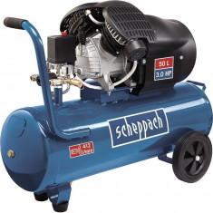 Compresor cu doi cilindri HC53DC Scheppach SCH5906102901 2200 W 50L 10 bari
