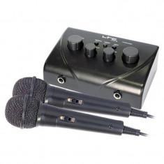 Mixer LTC pentru Karaoke, 2 microfoane cu fir, control ton si si ecou
