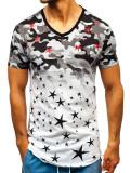Tricou cu imprimeu camuflaj negru-verde Bolf 324