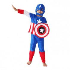 Costum Captain America pentru copii marime M pentru 5 7 ani