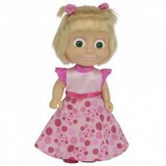 Papusa 12 cm Masha in rochie de primavara