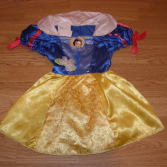 costum carnaval serbare alba ca zapada pentru copii de 2-3-4 ani