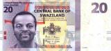 SWAZILAND █ bancnota █ 20 Emalangeni █ 2014 █ P-37b █ UNC necirculata