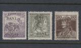 ROMANIA 1919 - EMISIUNEA CLUJ ORADEA  -  3 MARCI EROARE I DEPLASAT MNH, Nestampilat