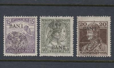 ROMANIA 1919 - EMISIUNEA CLUJ ORADEA  -  3 MARCI EROARE I DEPLASAT MNH foto