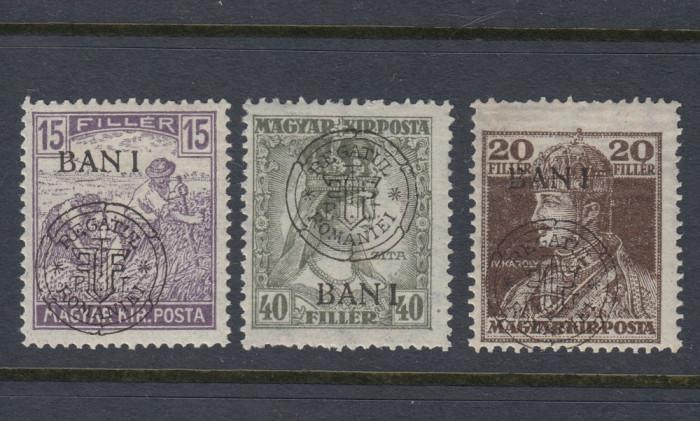 ROMANIA 1919 - EMISIUNEA CLUJ ORADEA  -  3 MARCI EROARE I DEPLASAT MNH