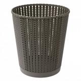 Cos de gunoi, model impletit, 9.5 lt, negru, 24,5×28 cm