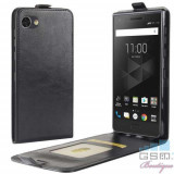 Husa Flip Verticala Cu Stand BlackBerry Motion Neagra