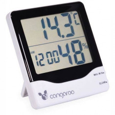 Termometru si Higrometru Cangaroo Digital 3 in 1 Ceas digital cu functie de alarma
