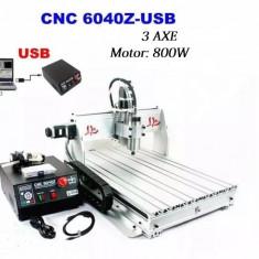 CNC Router, 3 axe, seria 6040Z, 800W
