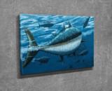 Tablou decorativ, Vega, Canvas 100 procente, lemn 100 procente, 30 x 40 cm, 265VGA1197, Multicolor