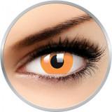 Glow Orange - lentile de contact colorate Crazy portocalii anuale - 360 purtari (2 lentile/cutie)