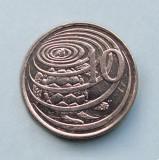 CAYMAN ISLANDS - 10 Cents 1992, America Centrala si de Sud, Nichel