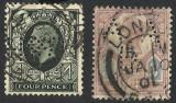 MAREA BRITANIE / ANGLIA --PERFIN / PERFORATE, Stampilat