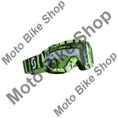 MBS Ochelari cross/enduro Scott Works Hustle, negru/verde , sticla clara, Cod Produs: W2208282908AU foto