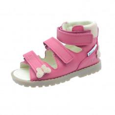 Sandale ortopedice din piele naturala pentru fetite Mrugala 1199F, Roz