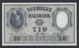 A5162 Sweden Suedia 10 kronor 1958 SEMNATURI DIFERITE aUNC UNC