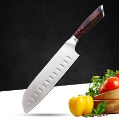 Cutit de santoku profesional MRK PRESTIGE otel german, cu lama de 17 cm