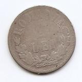 Romania 2 Lei 1873 - Carol I, Argint 10 g/835, 27 mm KM-8