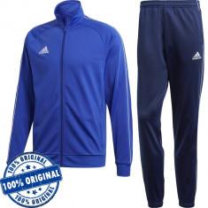 Trening Adidas Core pentru barbati - trening original - pantaloni conici, S, Albastru, Poliester