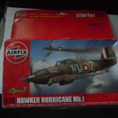 bnk jc Avion - macheta - Hawker Hurricane MK I - Airfix - 1/72