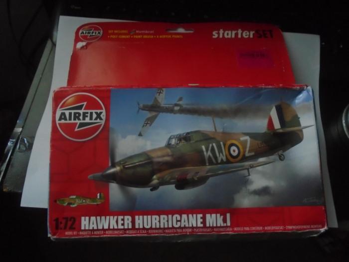 bnk jc Avion - macheta - Hawker Hurricane MK I - Airfix - 1/72