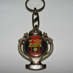 Breloc (vechi) metalic fotbal - FC BARCELONA (Castigatoare 1992)- produs oficial