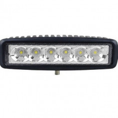 Bara proiectoare Led Auto Offroad 18W 12V 24V, 132 Lumeni,16 cm, led cree