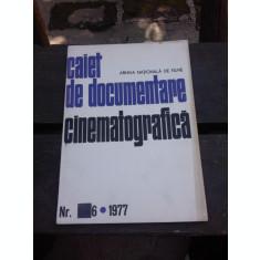 CAIET DE DOCUMENTARE CINEMATOGRAFICA NR.6/1977