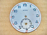 A962-Cadran Cyna portelan vechi ceas buzunar barbat. Diametrul 4.5 cm.