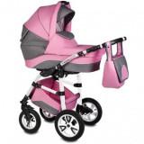 Cumpara ieftin Carucior 3 in 1 Vessanti Flamingo Easy Drive Roz