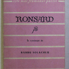 POEZII de RONSARD , 1959